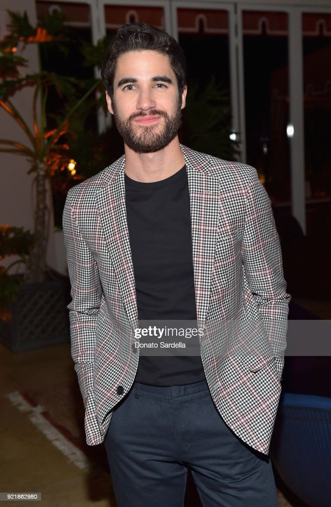 Darren Criss, wearing Hugo Boss, attends Esquire's 'Mavericks of Hollywood' Celebration presented by Hugo Boss on February 20, 2018 in Los Angeles, California.