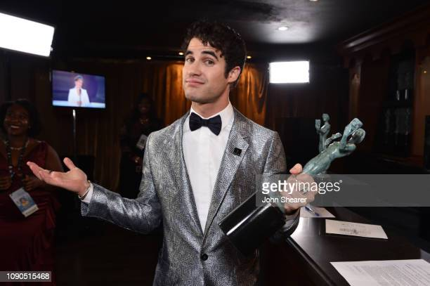 Darren Criss, winner of Outstanding Performance by a Male Actor in a Miniseries or Television Movie for 'The Assassination of Gianni Versace,'...