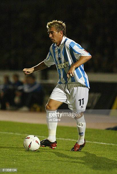 Darren Currie of Brighton and Hove Albion runs with the ball during the CocaCola Championship League match between Brighton Hove Albion and...
