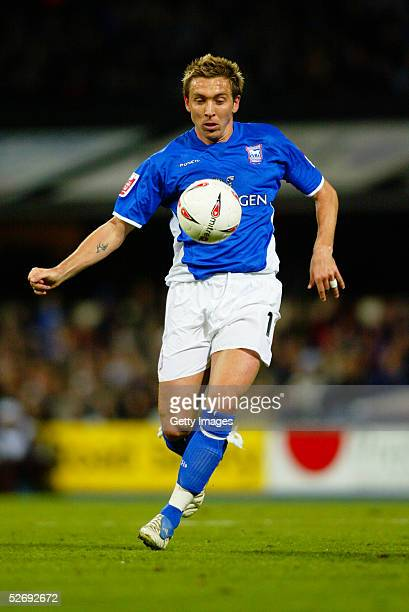 Darren Currie of Ipswich Town controls the ball during the Coca Cola Championship match between Ipswich Town and Rotherham United at Portman Road...
