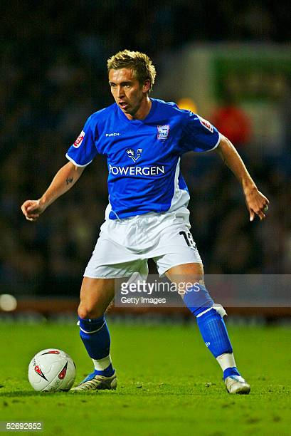 Darren Currie of Ipswich Town in action during the Coca Cola Championship match between Ipswich Town and Rotherham United at Portman Road Stadium on...