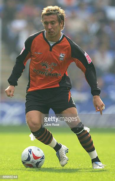 Darren Currie of Ipswich Town in action during the CocaCola Championship match between Reading and Ipswich Town at the Madejski Stadium on October 16...