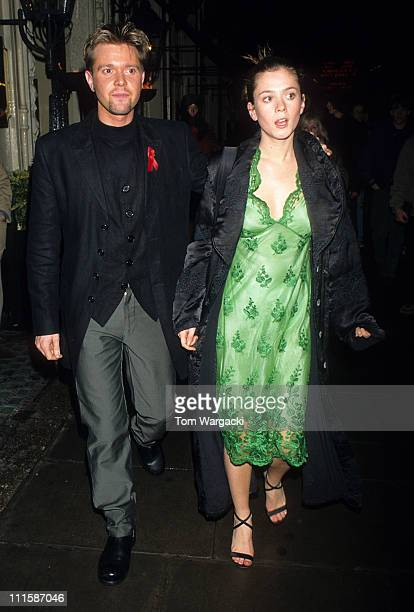 Darren Day and Anna Friel during Anna Friel and Darren Day at the Waldorf Hotel for the Jesus Christ Superstar Party at Waldorf Hotel in London Great...