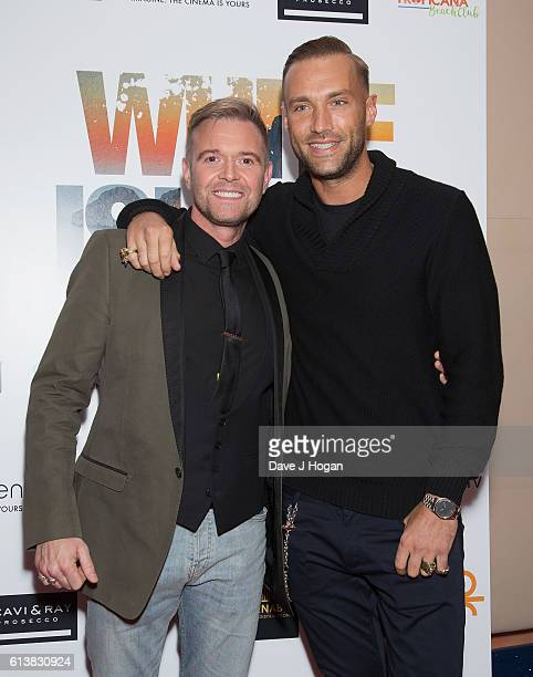 Darren Day and Calum Best attend the film premiere of 'White Island' at Vue Piccadilly on October 10 2016 in London England