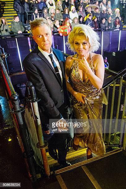 Darren Day and Daniella Westbrook at the final of Celebrity Big Brother at Elstree Studios on February 5 2016 in Borehamwood England