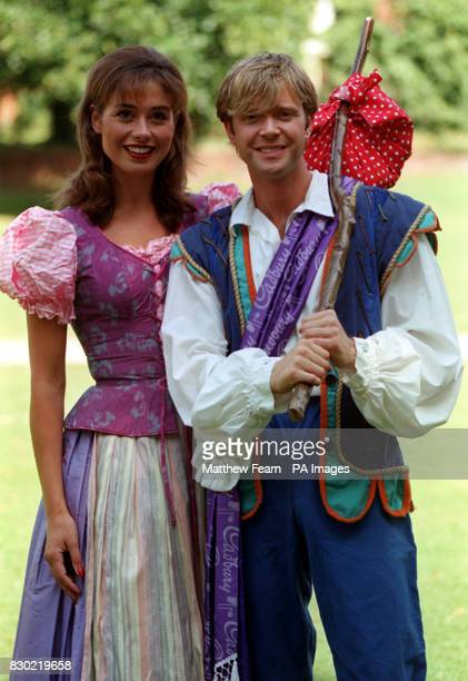 Darren Day and Melanie Stace dressed as Dick Whittington and Alice Fitzwarren in Richmond London where they will be appearing in pantomime at the...