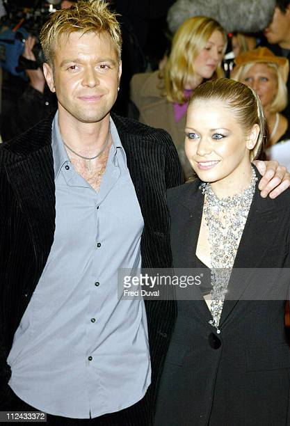 Darren Day and Suzanne Shaw during 'Down with Love' London Premiere at Odeon Kensington in London Great Britain