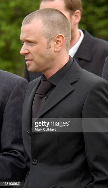 Darren Day Attends The Funeral Of Caron Keating At Herver Castle In Kent