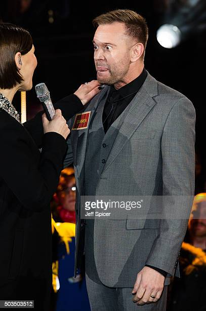 Darren Day enters the Celebrity Big Brother House at Elstree Studios on January 5 2016 in Borehamwood England