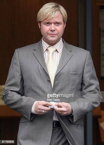Darren Day leaves Cardiff Magistrates Courthouse after appearing on charges of drink driving on July 2 2008 in Cardiff Wales The English actor singer...