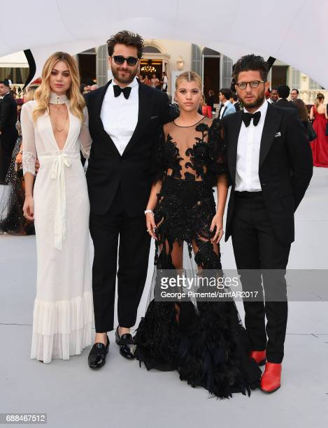 Darren Dzienciol Sofia Richie and Cedric Benaroch arrive at the amfAR Gala Cannes 2017 at Hotel du CapEdenRoc on May 25 2017 in Cap d'Antibes France