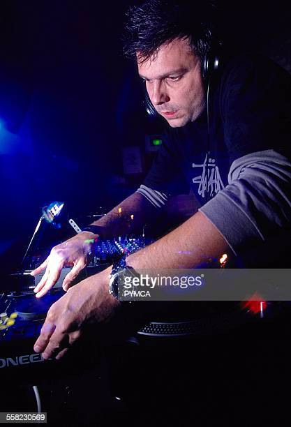 Darren Emerson DJing at World DJ Day Fabric London March 2002.