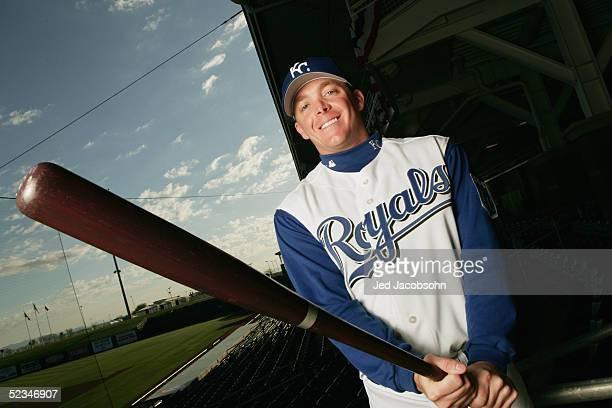Darren Fenster of the Kansas City Royals poses for a portrait during Spring Training Photo Day at Surprise Stadium on February 26 2005 in Surprise...