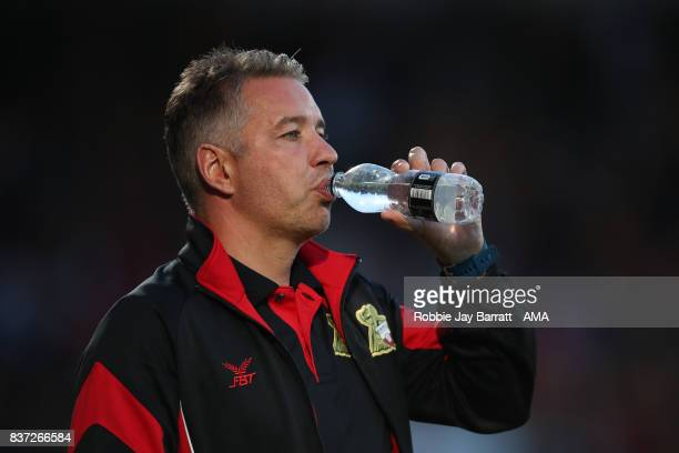 Darren Ferguson head coach / manager of Doncaster Rovers during the Carabao Cup Second Round match between Doncaster Rovers and Hull City at Keepmoat...