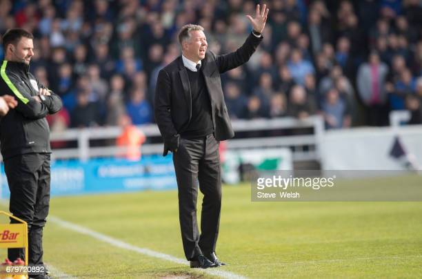 Darren Ferguson manager of Donacaster Rovers looks on during the Sky Bet League Two match between Hartlepool and Doncaster at Victoria Park on May 6...