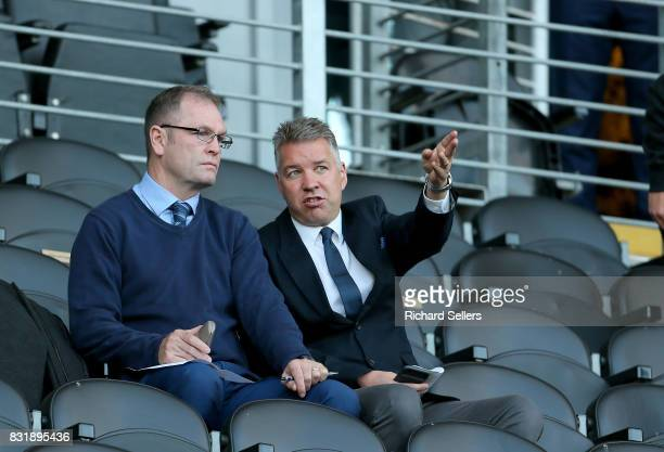 Darren Ferguson the Doncaster Rovers manager in the stand before the Sky Bet Championship match between Hull City and Wolverhampton Wanderers at KCOM...