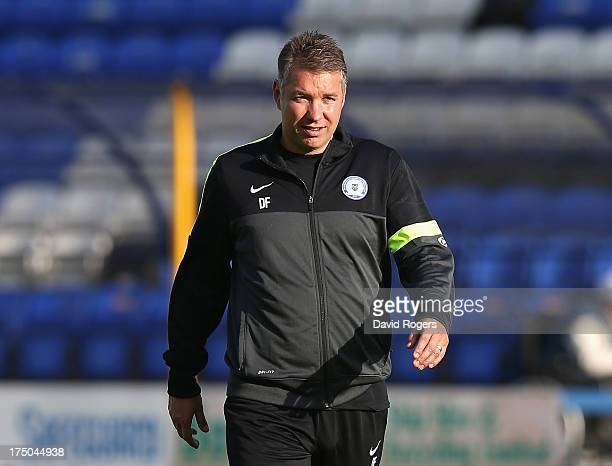 Darren Ferguson the Peterborough United manager looks on during the pre season friendly match between Peterborough United and Hull City at London...
