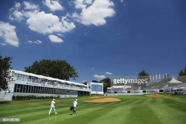 Darren Fichardt of South Africa walks towards the 18th green during day three of the BMW South African Open Championship at Glendower Golf Club on...