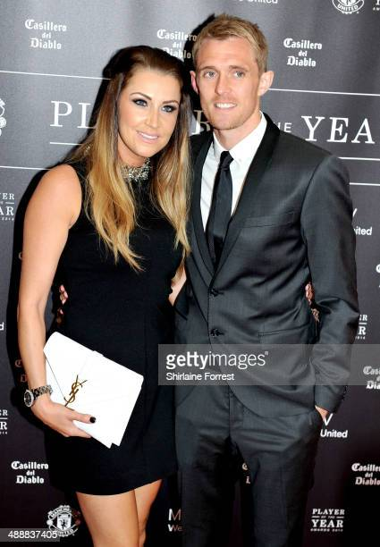 Darren Fletcher and Hayley Grice attend the Manchester United Player of the Year awards at Old Trafford on May 8 2014 in Manchester England