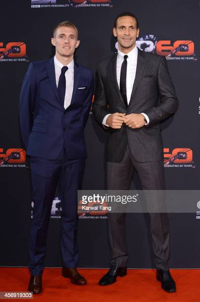 Darren Fletcher and Rio Ferdinand attend the BBC Sports Personality of the Year awards at the First Direct Arena on December 15 2013 in Leeds England