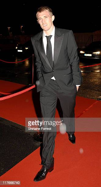 Darren Fletcher arrives for the Manchester United `United for UNICEF' Gala Dinner at Manchester United Football Club October 28 2007 in Manchester...