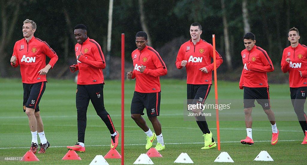 Manchester United Training and Press Conference : Foto di attualità