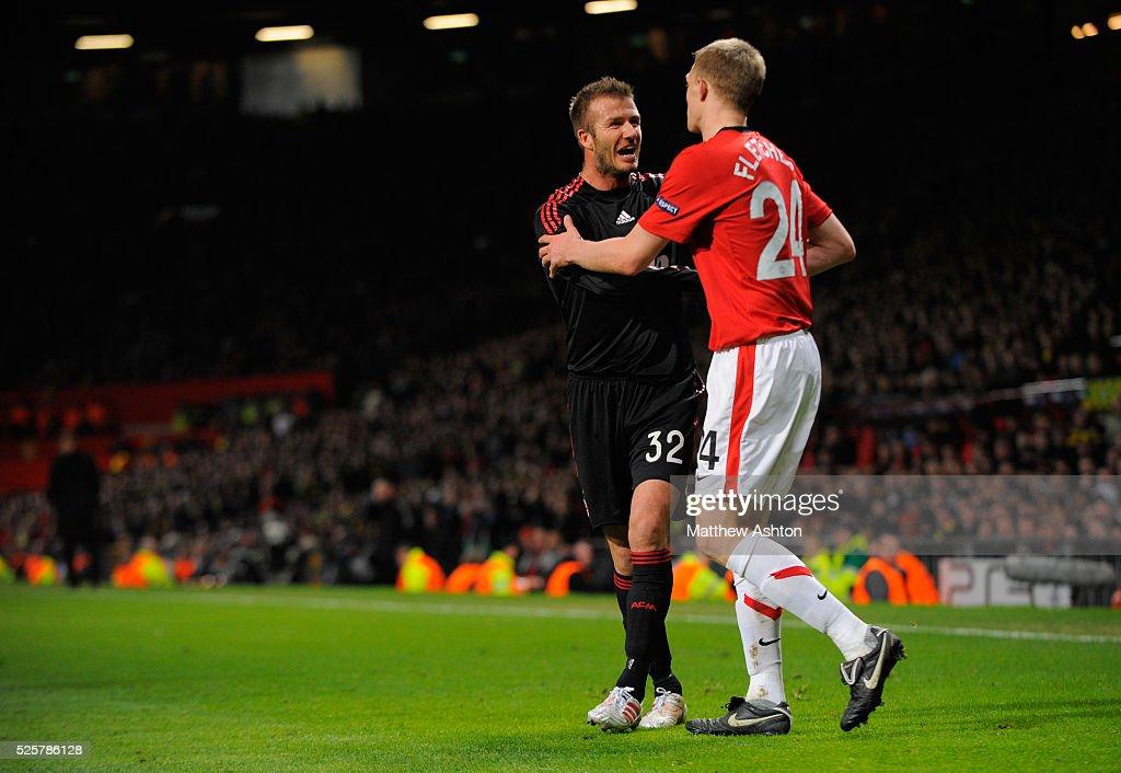 SOCCER - UEFA Champions League - Manchester United vs. AC Milan : News Photo