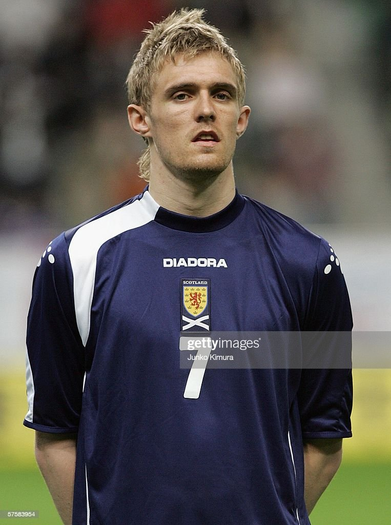 Darren Fletcher of Scotland is seen before playing the Kirin Cup Soccer 2006 match between Scotland and Bulgaria at the Kobe Wing Stadium on May 11, 2006 in Kobe, Japan