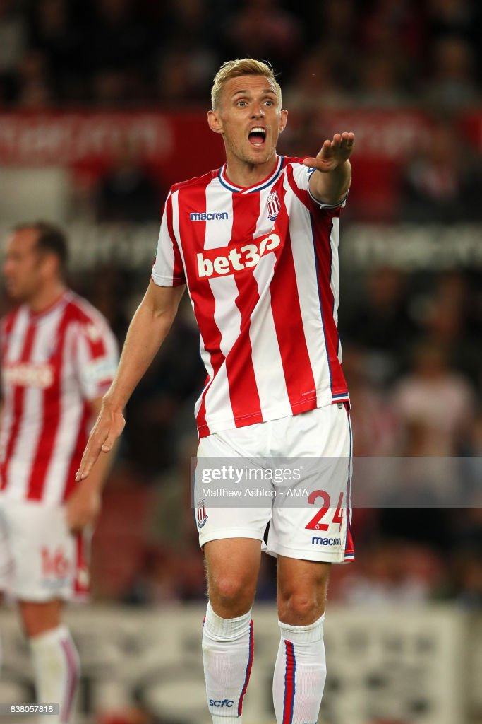 Darren Fletcher of Stoke City during the Carabao Cup Second Round match between Stoke City and Rochdale at Bet365 Stadium on August 23, 2017 in Stoke on Trent, England.