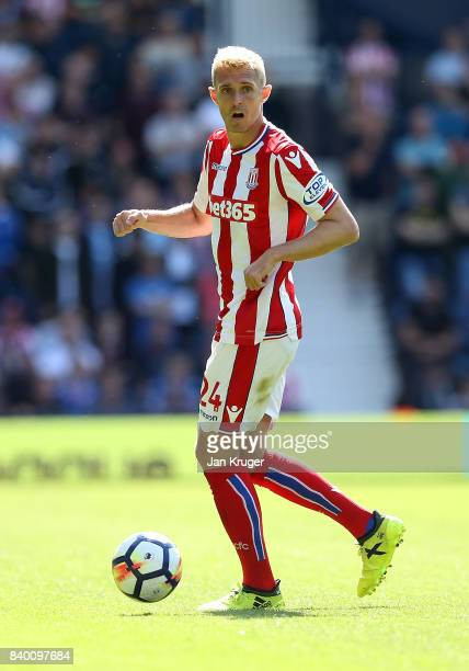 Darren Fletcher of Stoke City during the Premier League match between West Bromwich Albion and Stoke City at The Hawthorns on August 27 2017 in West...