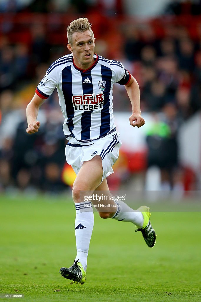 Darren Fletcher of West Brom in action during the Pre-Season Friendly between Walsall and West Bromwich Albion at Banks' Stadium on July 28, 2015 in Walsall, England.
