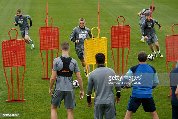 Darren Fletcher of West Bromwich Albion during a training session at West Bromwich Albion Training Ground on August 11 2016 in Walsall England