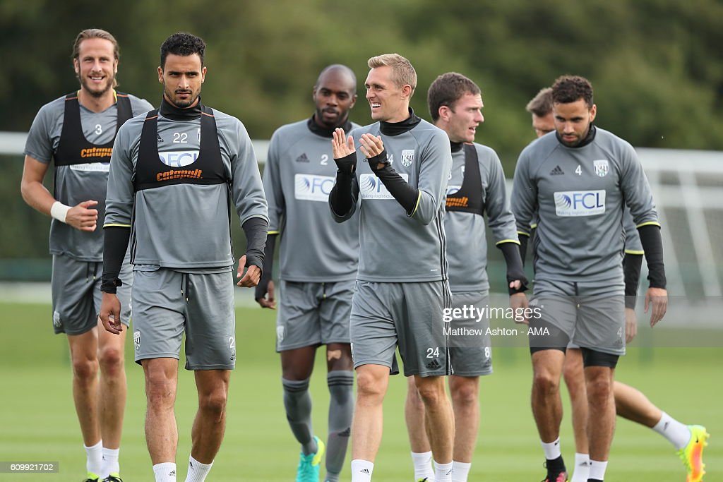 Darren Fletcher of West Bromwich Albion during a training session at West Bromwich Albion Training Ground on September 23, 2016 in Walsall, England.