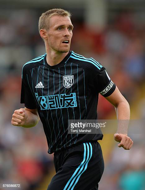 Darren Fletcher of West Bromwich Albion during the PreSeason Friendly match between Kidderminster Harriers and West Bromwich Albion at Aggborough...