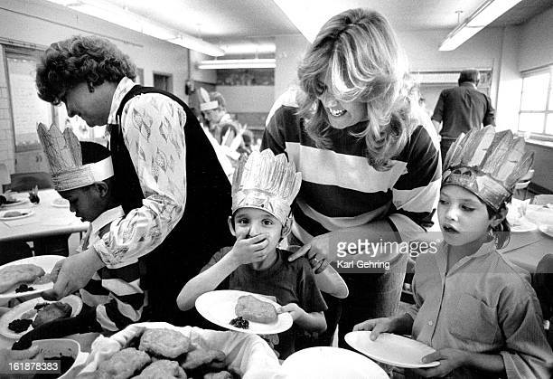 NOV 26 1987 Darren Garcia reacted with surprise during a tasting of Navajo fry bread Darren's special education class at Doull Elementary school was...