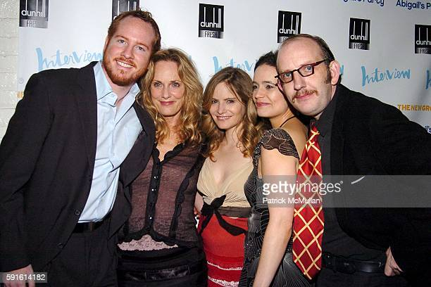 Darren Goldstein Lisa Emery Jennifer Jason Leigh Elizabeth Jasicki Max Baker and attend INTERVIEW MAGAZINE Afterparty for the Opening Night of the...