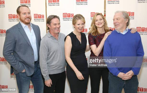 Darren Goldstein Richard Thomas Cynthia Nixon Laura Linney and Michael McKean attends the cast photo call for the Manhattan Theatre Club's New...