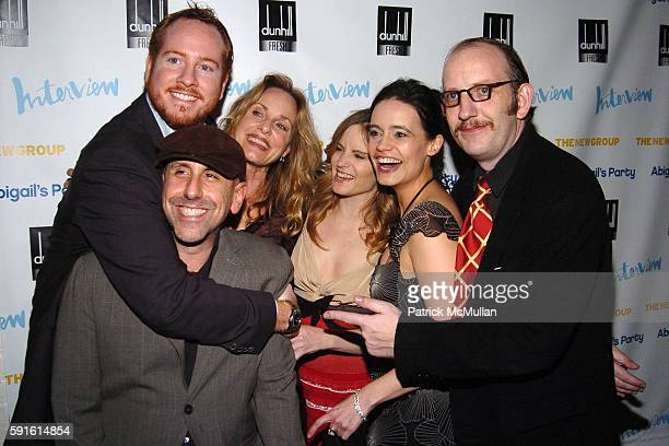Darren Goldstein, Scott Elliott , Lisa Emery, Jennifer Jason Leigh, Elizabeth Jasicki, Max Baker and attend INTERVIEW MAGAZINE Afterparty for the...