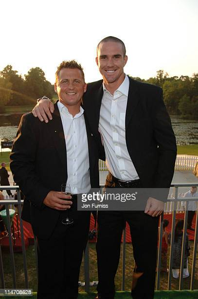 Darren Gough and Kevin Pietersen during Silverstone Grand Prix Ball 2006 at Stowe House in Stowe Great Britain