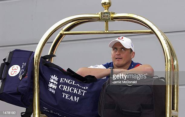 Darren Gough announces his fitness during a England press conference prior to their departure for the Ashes Tour at the Marriot hotel Heathrow on...
