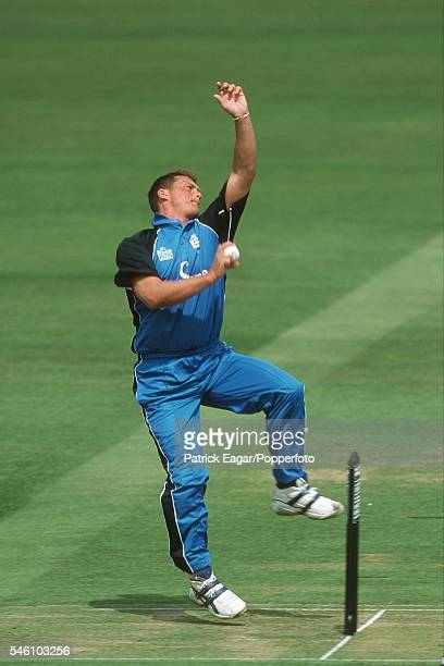 Darren Gough bowling for England during the 4th NatWest Series One Day International between England and Pakistan at Lord's Cricket Ground London...