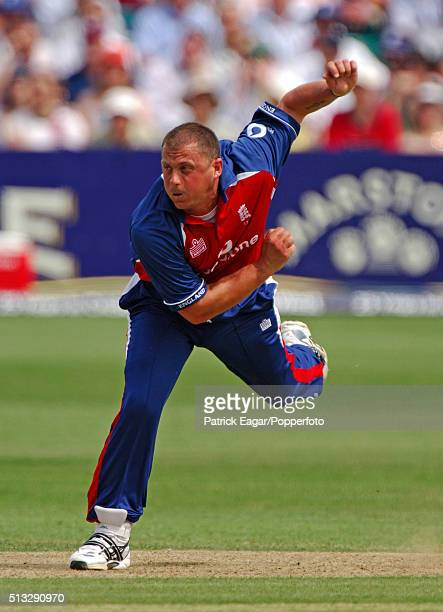 Darren Gough bowling for England during the NatWest Series One Day International between England and Australia at Bristol 19th June 2005 Australia...