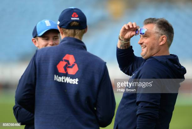 Darren Gough looks on during a training session before the 2nd Investec Test match between England and the West Indies at Headingley cricket ground...