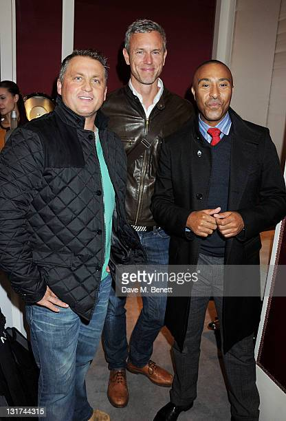 Darren Gough Mark Foster and Colin Jackson attend a party hosted by jewellers Garrard unveiling of the ISAF World Match Racing Tour Championship...