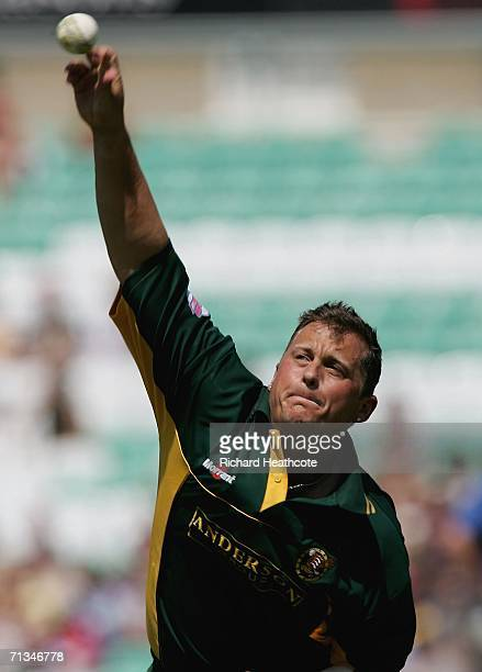 Darren Gough of Essex in action during the Twenty20 Cup match between Surrey and Essex at the Brit Oval on July 1 2006 in London England
