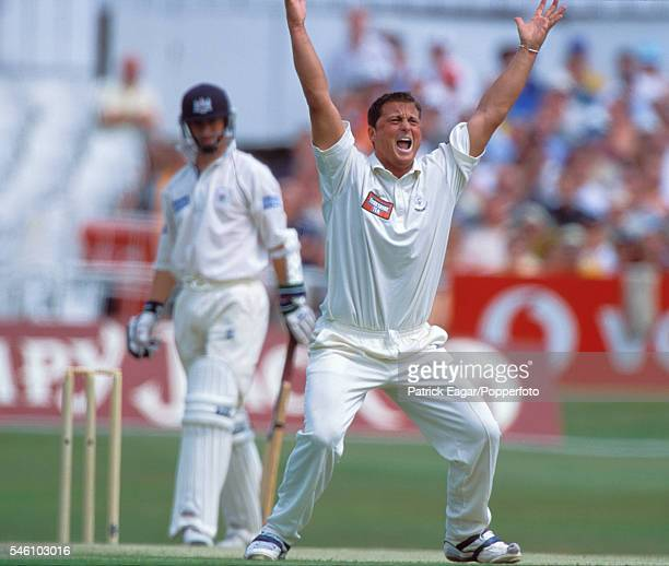 Darren Gough of Yorkshire appeals for a wicket during the Benson and Hedges Cup Semi Final between Yorkshire and Gloucestershire at Headingley Leeds...