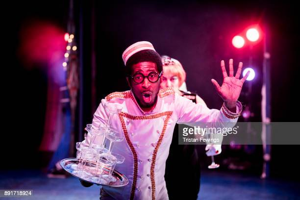 Darren Hart as Buttons during a performance of Cinderella at Hackney Empire on December 13 2017 in London England
