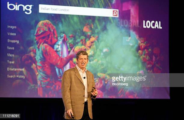 Darren Huston, vice president of global consumer and online for Microsoft Corp., speaks at an advertising conference at company headquarters in...