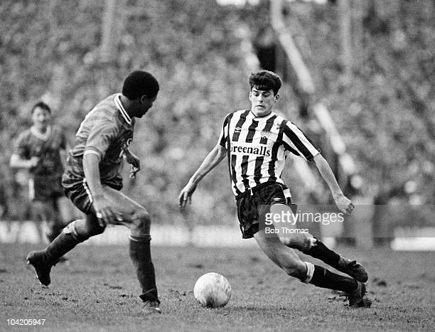 Darren Jackson of Newcastle United challenged by John Gittens of Swindon Town during the Newcastle United v Swindon Town FA Cup 4th Round match...