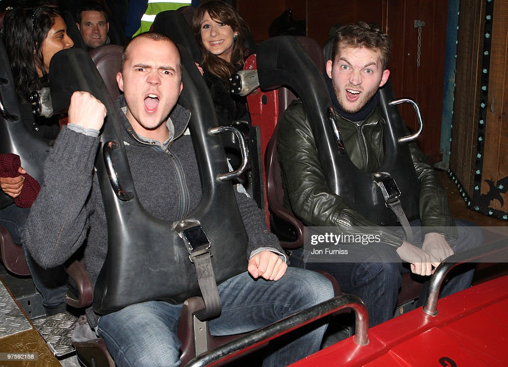 ACCESS** Darren Jeffries (L) and Mark Littler attend the launch of SAW Alive - the world's most extreme live horror maze at Thorpe Park on March 9, 2010 in Chertsey, England.